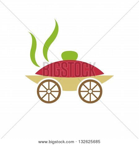 Catering like carriage vector illustration isolated on white background.