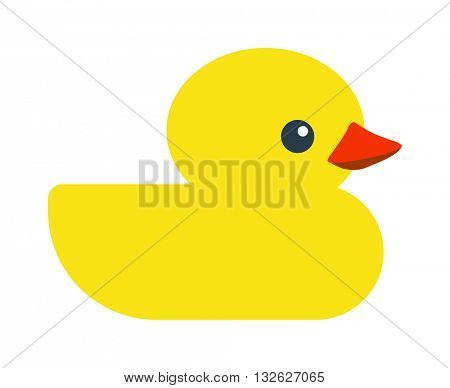 Yellow uck toy cartoon vector