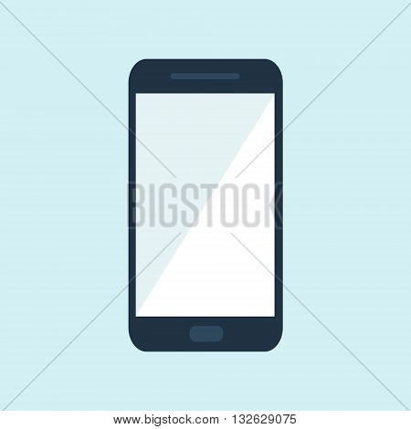 Mobile phone or smartphone. Vector illustration flat design