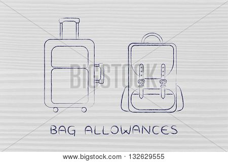 Travel Cabin Baggage And Backpack, Caption Bag Allowances