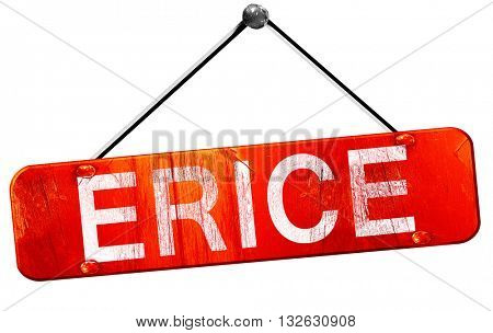 Erice, 3D rendering, a red hanging sign