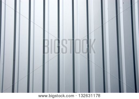 corrugated front metal siding close up. Texture