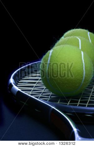 Tennis Ball On The Racket