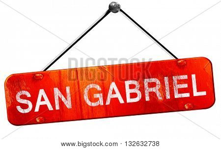 san gabriel, 3D rendering, a red hanging sign