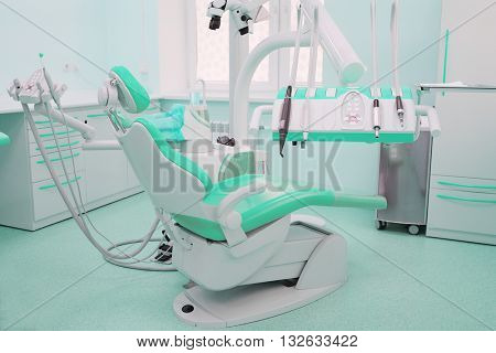 Interior of a stomatologist's office