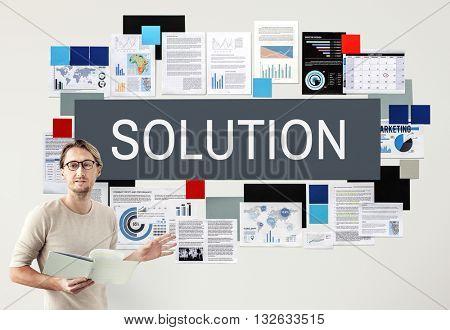 Solution Solving Problem Improvement Decision Concept