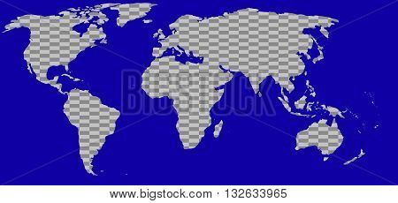 World map silhouette stylish gray earth tones