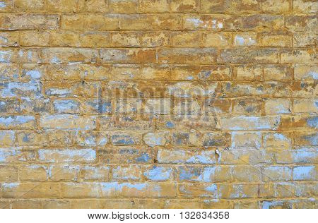 Old Grunge Brick Wall With Paint Scale Background