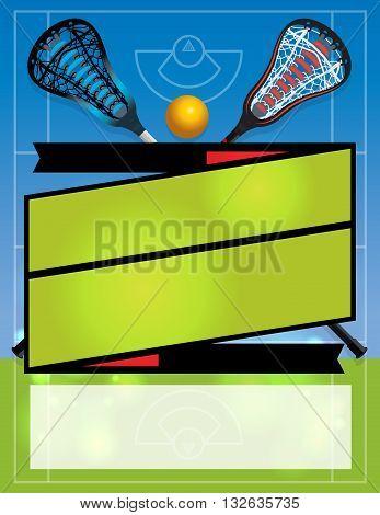 Blank Lacrosse Flyer Background