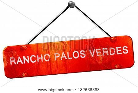 rancho palos verdes, 3D rendering, a red hanging sign