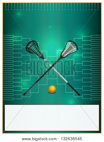 Lacrosse Tournament Template Flyer
