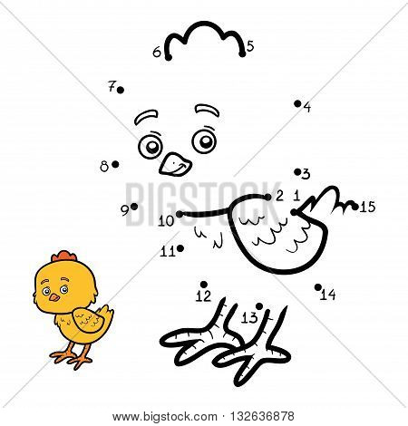 Numbers Game For Children. Little Chick