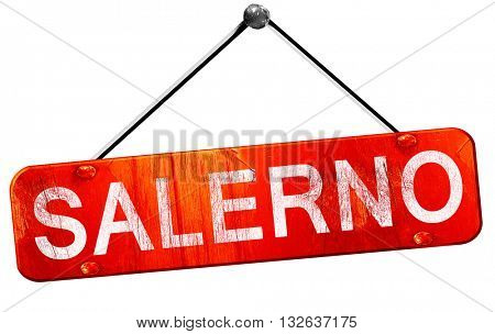 Salerno, 3D rendering, a red hanging sign