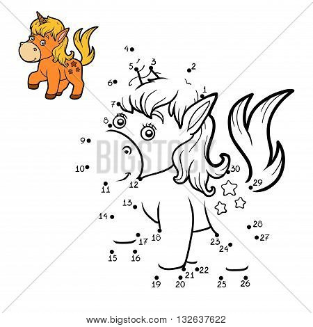 Numbers Game For Children. Little Unicorn