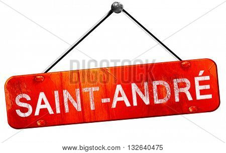 saint-andre, 3D rendering, a red hanging sign