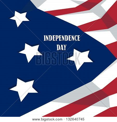 Happy Independence Day United States American Holiday Banner Vector Illustration
