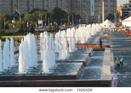 Fountains In Poklonnaja Gora (Moscow)