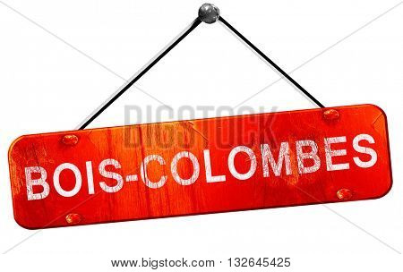 bois-colombes, 3D rendering, a red hanging sign