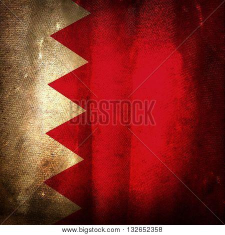 The old vintage grunge flag of Bahrain