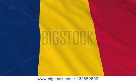 Chadian Flag HD Background - Flag of Chad 3D Illustration