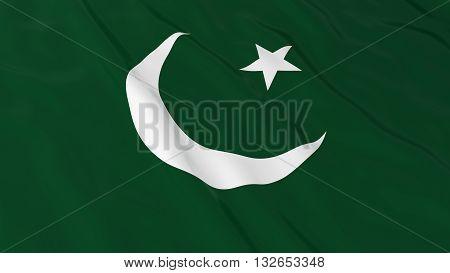 Pakistani Flag HD Background - Flag of Pakistan 3D Illustration