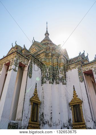 Wat Pho, Buddhist temple landmark in Bangkok Thailand