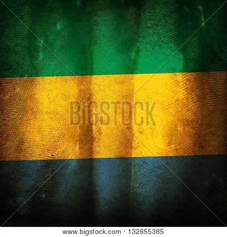 The old vintage grunge flag of Gabon