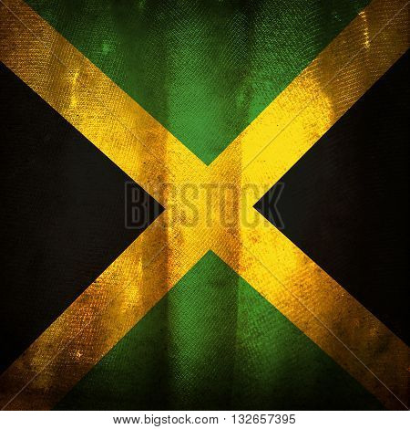 the old vintage grunge flag of Jamaica