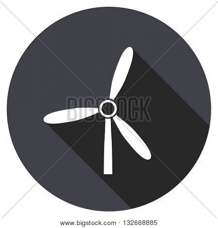 windmill vector icon, circle flat design internet button, web and mobile app illustration