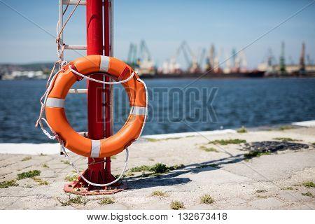 Harbor Cranes Working