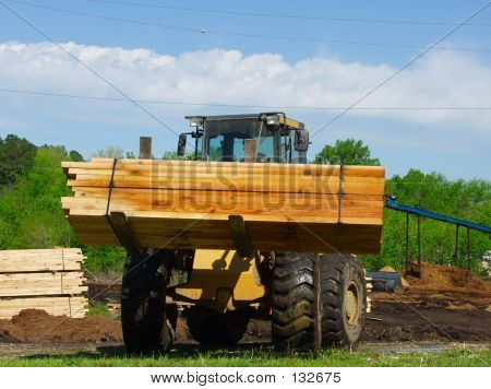 Front End Loader Carrying A Load