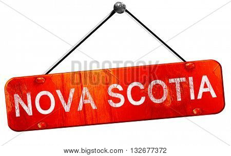 Nova scotia, 3D rendering, a red hanging sign