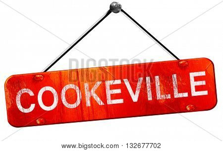 cookeville, 3D rendering, a red hanging sign