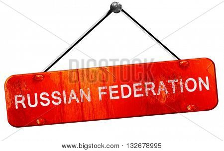 Russian federation, 3D rendering, a red hanging sign