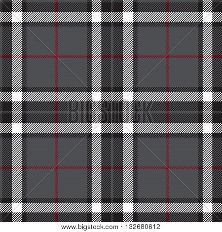 Gray with white plaid seamless. Vector illustration.