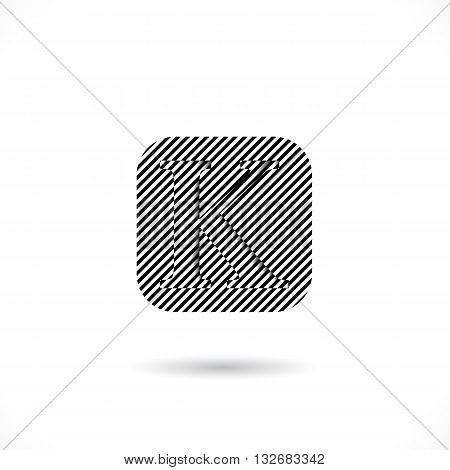 Creative K-letter icon abstract logo design vector template.K-alphabet symbol.Corporate business and education creative logotype symbol. Vector illustration