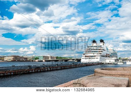Cruise Ship Anchored