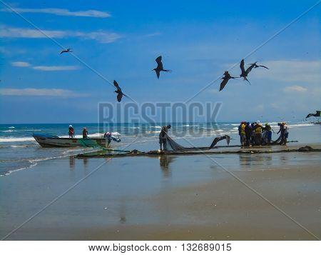 San Clemente Beach In Ecuador