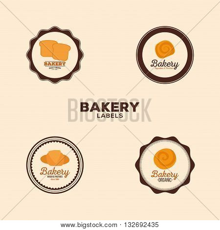 abstract bakery labels on a special ligth background