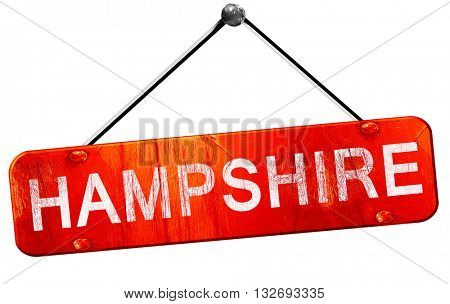 Hampshire, 3D rendering, a red hanging sign