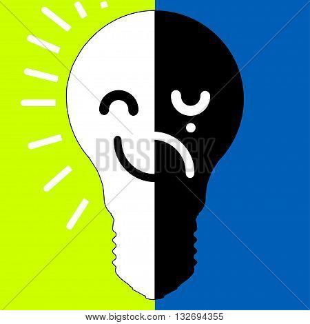bipolar disorder sign design from light bulb