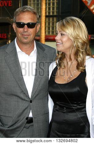 Kevin Costner and wife Christine Baumgartner at the Los Angeles premiere of 'Mr. Brooks' held at the Grauman's Chinese Theater in Hollywood, USA on May 22, 2007.