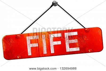 Fife, 3D rendering, a red hanging sign