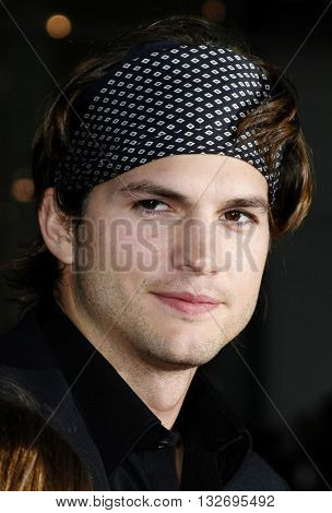 Ashton Kutcher at the Los Angeles premiere of 'Mr. Brooks' held at the Grauman's Chinese Theater in Hollywood, USA on May 22, 2007.