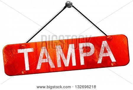 tampa, 3D rendering, a red hanging sign