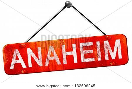 anaheim, 3D rendering, a red hanging sign