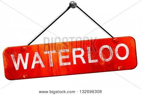 waterloo, 3D rendering, a red hanging sign