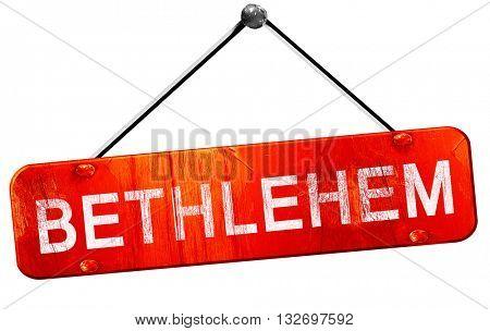 bethlehem, 3D rendering, a red hanging sign