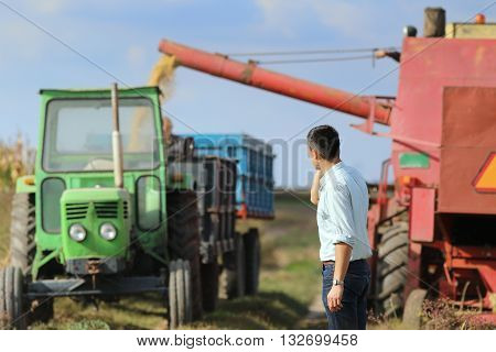 Businessman At Harvest