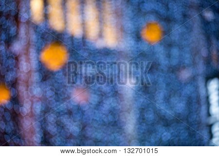Christmas decorations of department store at Oxford street, blurred background